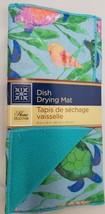 "Microfiber Dish Drying Mat, Approx 12"" x 18"", SEA TURTLES, aqua by GR - $10.88"