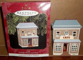 Hallmark Cafe Nostalgic Houses and Shops Ornament Collector Series MIB 1997 - $19.99