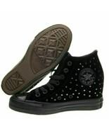 Womens Converse CTAS Lux Mid Hidden Platform Wedge Black 558975C Various... - $54.99