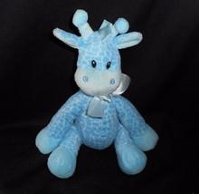 "9"" FIRST & MAIN BLUE JINGLES BABY GIRAFFE RATTLE STUFFED ANIMAL PLUSH TO... - $23.38"