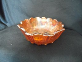 "Vintage Carnival Glass Marigold 5"" Bowl  File Fan  - $8.31"
