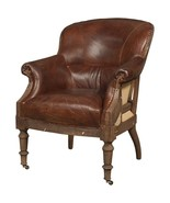 Top Grain Vintage Leather Deconstructed Cigar Chair - $1,480.05