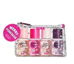 Victoria's Secret PINK Merry Pinkmas Faves 4 Pc. Mist Gift Bag Set  - $26.17