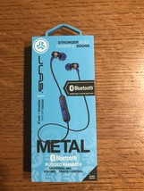 JLab Audio Metal Bluetooth Wireless Rugged Earbuds - Black / Blue - Brand New