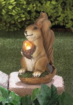 SQUIRREL with Lighted Acorn Solar Garden Statue - $19.98