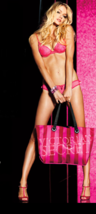 NWT Victoria's Secret Pink Stripes Silk Tote Bag - $24.99
