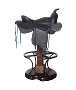 Equestrian Western Style Saddle Leather Bar Stools Barstools,38''H. - $841.50