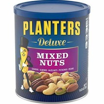 PLANTERS Deluxe Mixed Nuts with Hazelnuts 15.25 oz. Resealable Canister ... - $11.81