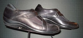 Clarks Everyday Black Leather Casual Cool Oxford Sz. 8N Excellent! - $27.37
