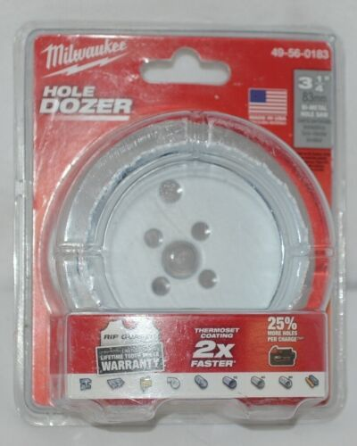 Milwaukee 49560183 Bi Metal HoleSaw Hole Dozer 3 One Quarter Inch