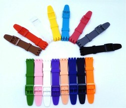 Wrist Watch Band Strap for Swatch Fits 16mm 17mm 19mm 20mm Rubber Silico... - $3.98