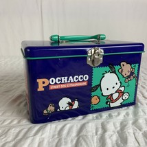 Vintage Sanrio Pochacco Street Dog Extraordinaire Blue Tin Box 1996 90s ... - $49.49