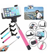 Bluetooth Selfie Stick Shutter Extendable Handheld Monopod Holder for Sm... - $23.77