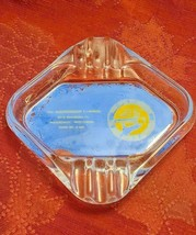 Vintage Industrial Distributors Glass Ashtray - Advertising - Manitowoc Wisc.