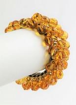 VINTAGE ESTATE Jewelry TOPAZ GLASS CRYSTAL CHA CHA EXPANSION BRACELET - $25.00