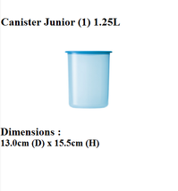 Tupperware One Touch Airtight Canister Junior (Set of 2) Free Postage - €26,30 EUR