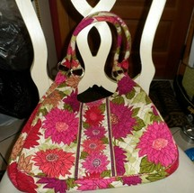 Vera Bradley large hobo bag in  Hello Dahlia - $26.00