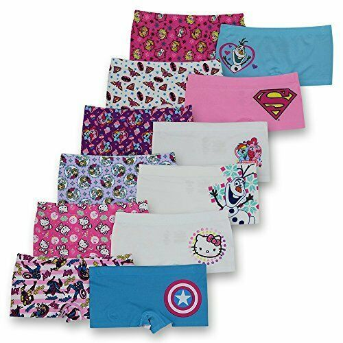 Girls' Big 2-Pack Seamless Boyshort, Marvel, Frozen, Ninja, Hello Kitty, Pony - $7.97