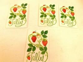 Strawberry Tally cards - Lot of 4 unused Bridge cards  Hallmark - $7.99