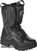 New Mens FLY Racing Marker Boa Black Size 7 Snowmobile Winter Snow Boots -40 F image 1
