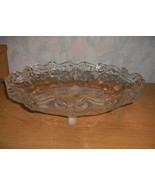 Vng Mikasa Walther Crystal Centerpiece Bowl Bows Ribbons Roses Flowers W... - $84.15