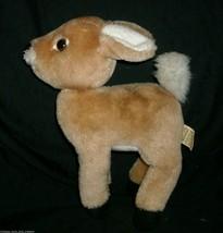 """12 """"vintage brown reindeer applause tawny fawn deer stuffed animal toy - $23.01"""