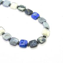 NECKLACE ANTICA MURRINA VENEZIA WITH MURANO GLASS BLUE SILVER BLACK CO988A06 image 6