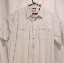 Wrangler Men 3XT Fishing Shirt Premium Short Sleeve Button Chest Pockets... - $27.71