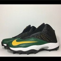 Nike Men's Zoom Code Elite 3/4 Shark Green Football Cleats Size 14 NEW F... - $33.43