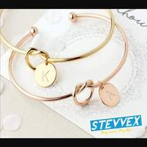 Personalize Knot Initial Bracelets Bangles A-Z 26 Letters Initial Charm Bracelet - $23.99