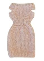 Barbie Doll Clothes Knit Light Pink Sweater Dress Handmade - $5.99