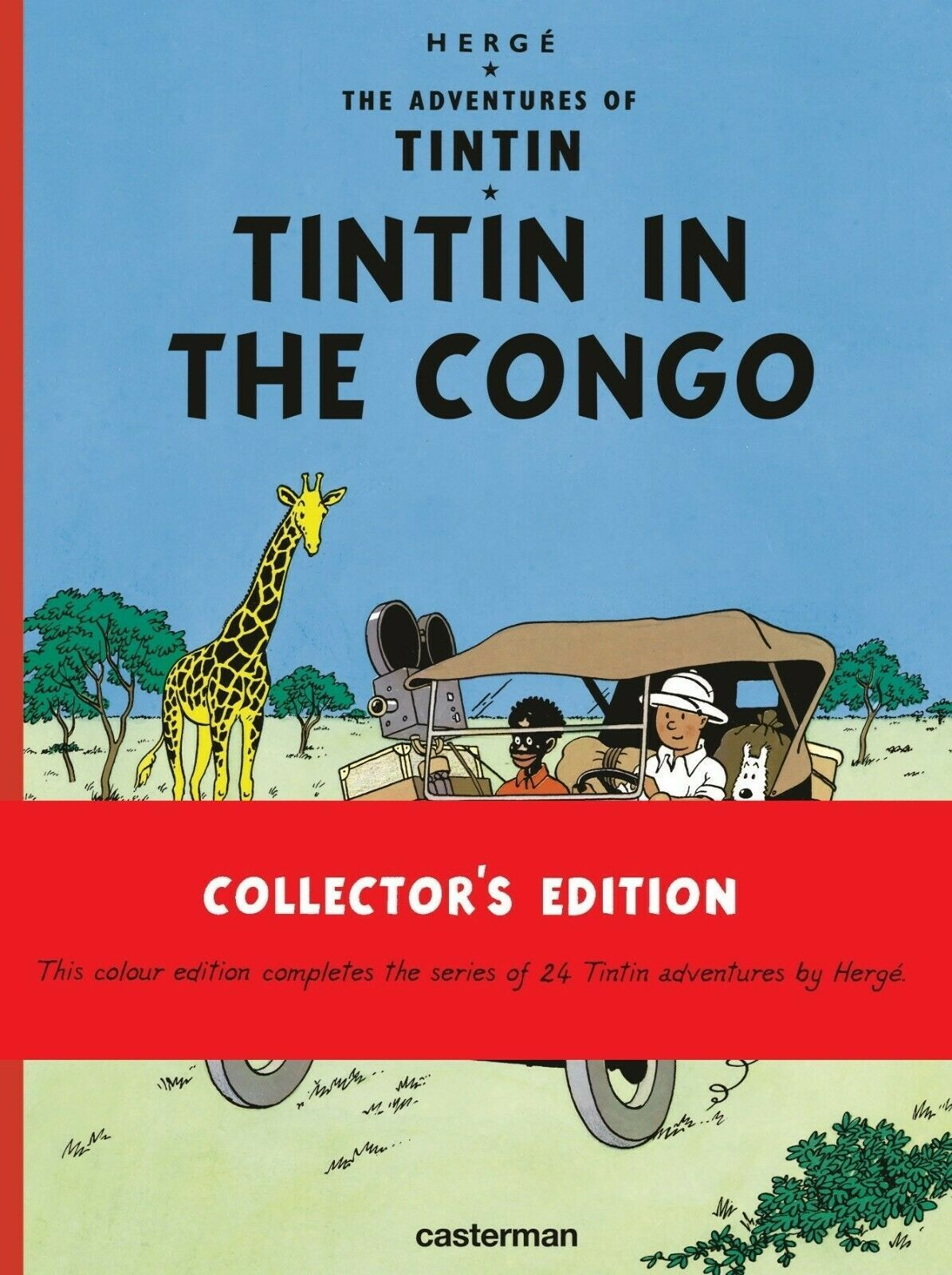 Tintin in the congo hardcover book Casterman sealed Collector's edition