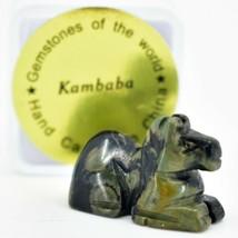 Kambaba Jasper Gemstone Tiny Miniature Pony Horse Figurine Hand Carved in China