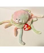 Ty Beanie Babies Plush Beanbag Goochy the Jellyfish Rainbow Error Year - $15.98