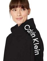 Calvin Klein Women's Performance Fleece Mock-Neck Sweatshirt, Black, Small - $39.59