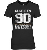 28th Birthday Gifts Vintage Made In 1990 Shirts Distressed - $19.99+