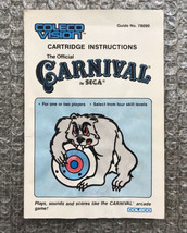 Carnival - **ORIGINAL MANUAL ONLY** - ColecoVision - HEAVY WEAR - $4.27