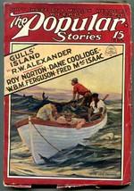 Popular Pulp Magazine October 22 1927- Shark cover- Gulls Island - $63.05