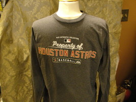 MLB Houston Astros long sleeve gray T-shirt size Large. Made by Majestic NEW!!! - $14.20