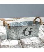 Galvanized Monogram Bucket G - $13.65