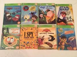 Lot 8 Leapfrog Tag Reader Books Boy Themed Star Wars Kung Fu Panda I Spy... - $28.55