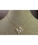 "Plunder Necklace (new) JORDAN M - CREAM ACRYLIC MONOGRAM 18""-20"" ADJ (PN... - $18.32"