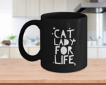 Cat Lady For Life - Cat Rescue Mom Owner Lover Gift Ceramic Coffee Mug Tea Cup