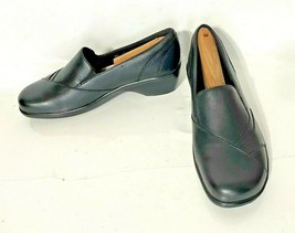 Clarks Bendables Women's Black Leather Casual Slip-On Comfort Shoes - Si... - $16.99