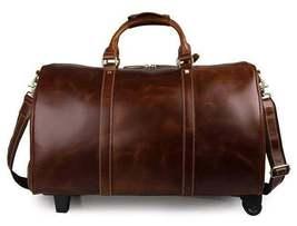 On Sale, Handmade Vintage Full Grain Leather Travel Bag, Duffel Bag, Holdall Lug image 2