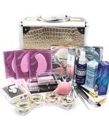 Deluxe Gold Case 25 in 1 Professional Eyelash Extension Mink False Eye L... - $62.45