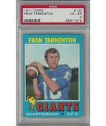 1971 Topps #120 Fran Tarkenton PSA 4 NY Giants  - $17.77