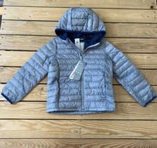 Gap NWT $78 Kids Full zip Lightweight Down Packable  Puffer Jacket SZ XS Grey N6 - $31.58