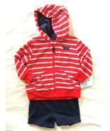 NWT Carter's Baby Boy Terry Cloth Hoodie Short Set Beach Crab Sweatshirt... - $29.00