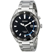 Seiko Core Kinetic SKA623 Stainless Steel Mens Watch - Blue Dial Color - $147.57